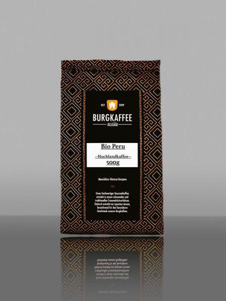 Burgkaffee Biokaffee DE-ÖKO-005 Peru Landwirtschaft 500g